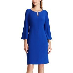 Ralph Lauren Keyhole Jersey Dress Blue Size 8